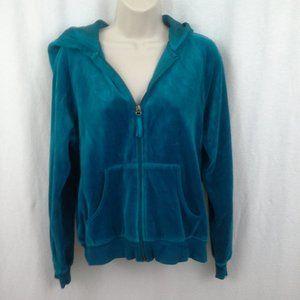 N.Y.L. New York Laundry womens hoodie L Teal